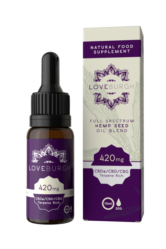 Loveburgh 420mg/10ml CBD Hemp Oil (4.2%)