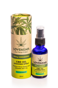 Love Hemp CBD Oil Spray 400mg/30ml - Peppermint Flavour