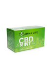 Green box of CBD tea. Text on the front reads Amma Life CBD Mint Tea, CBD for everyday health