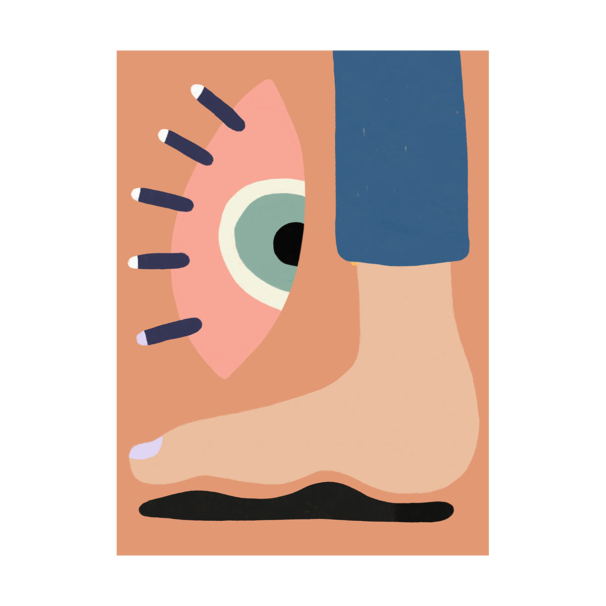 Pedicure by Fabienne Meyer - art print