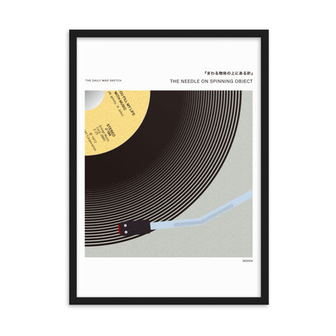 The needle on spinning object by Inoken - art print