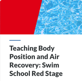 Teaching Body Position and Air Recovery: Swim School Red Stage