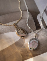 Lavender Oval Locket, 14K