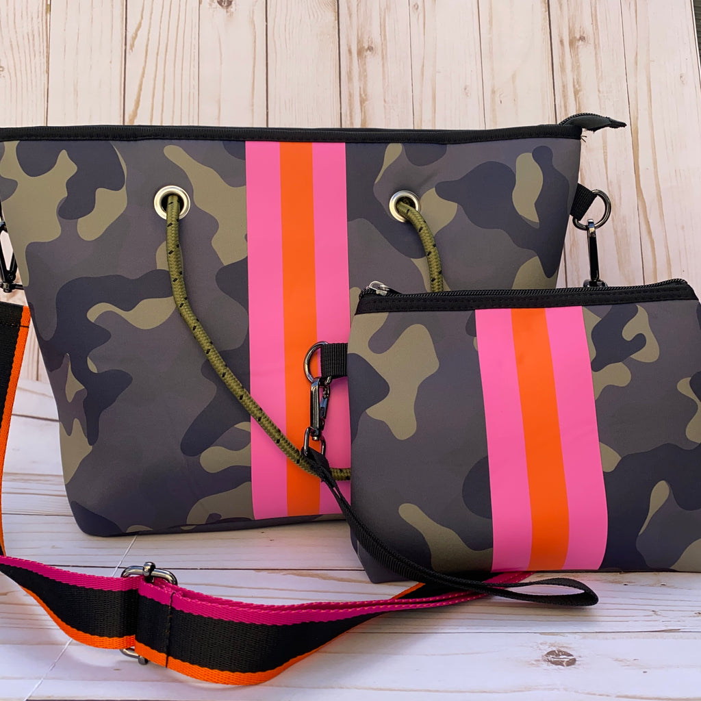 Green Camo Neoprene Purse