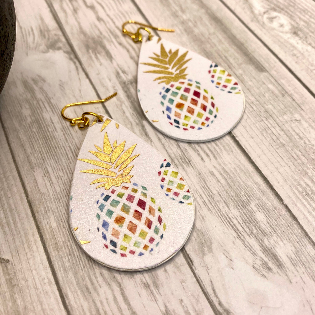 Pineapple Wood Earrings