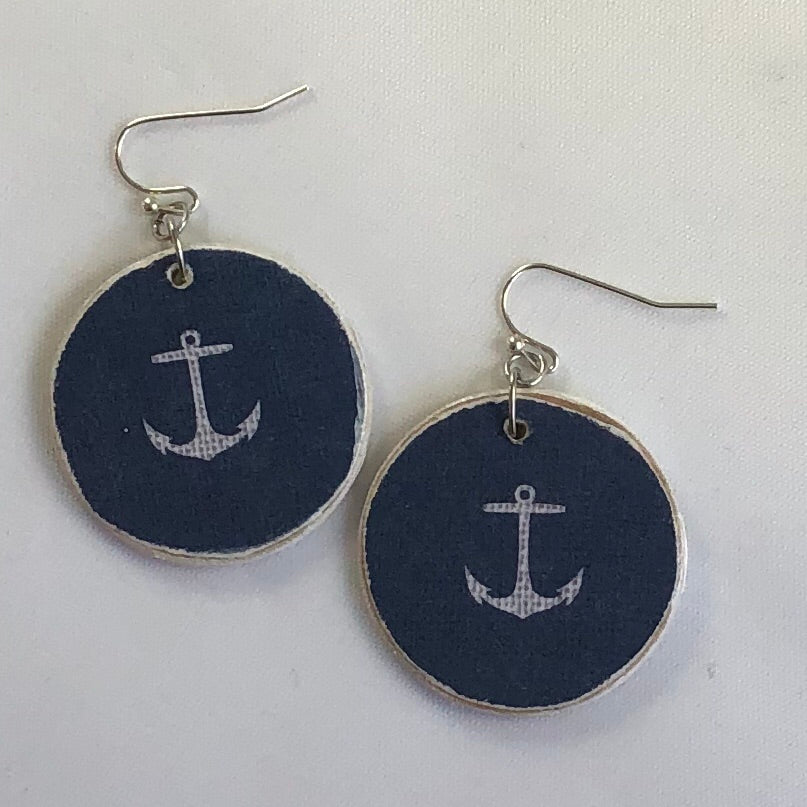 Anchor Wood Earrings - the-a-to-z-boutique