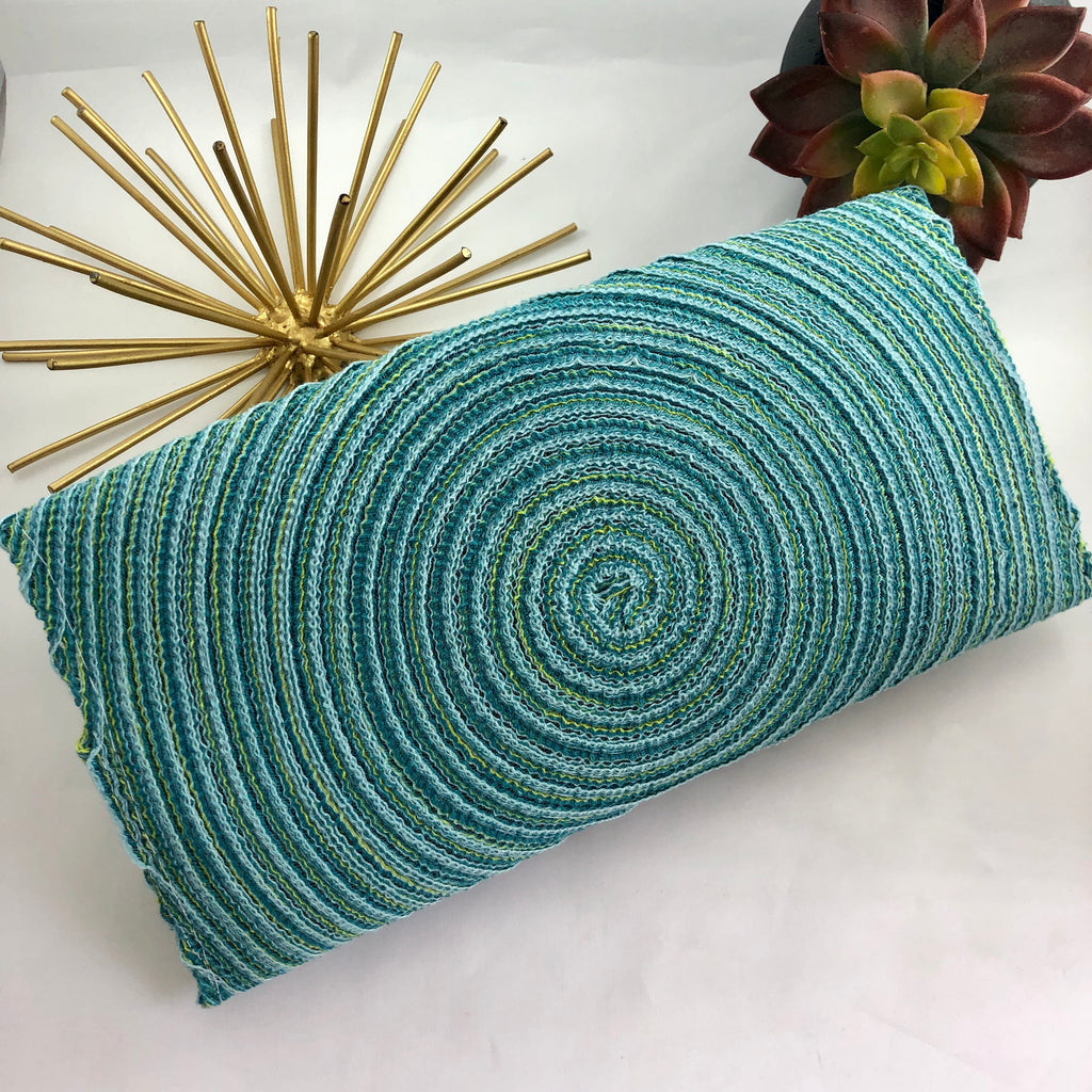 Blue and Green Woven Clutch - the-a-to-z-boutique