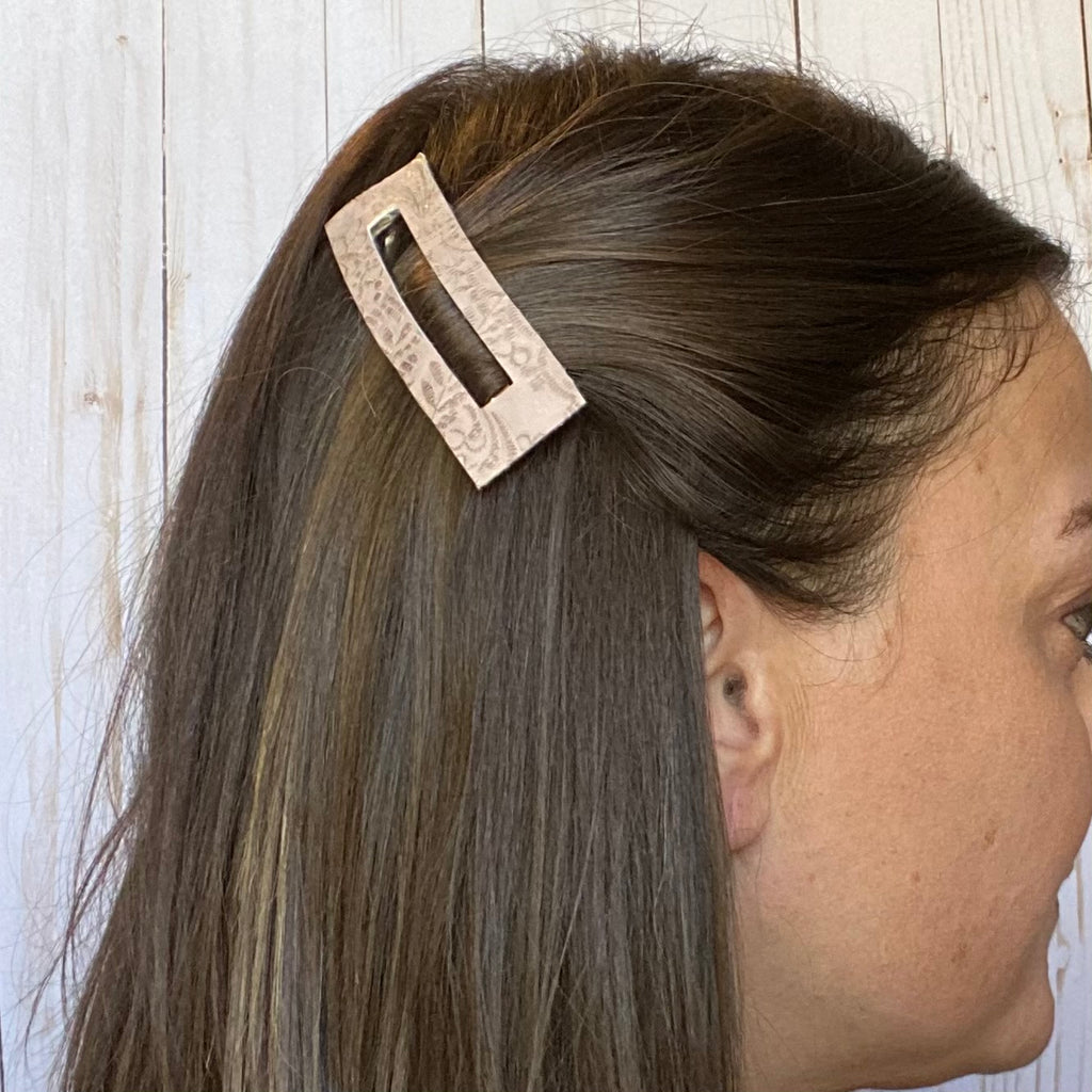 "3.25"" Taupe Rectangle Snap Clip"