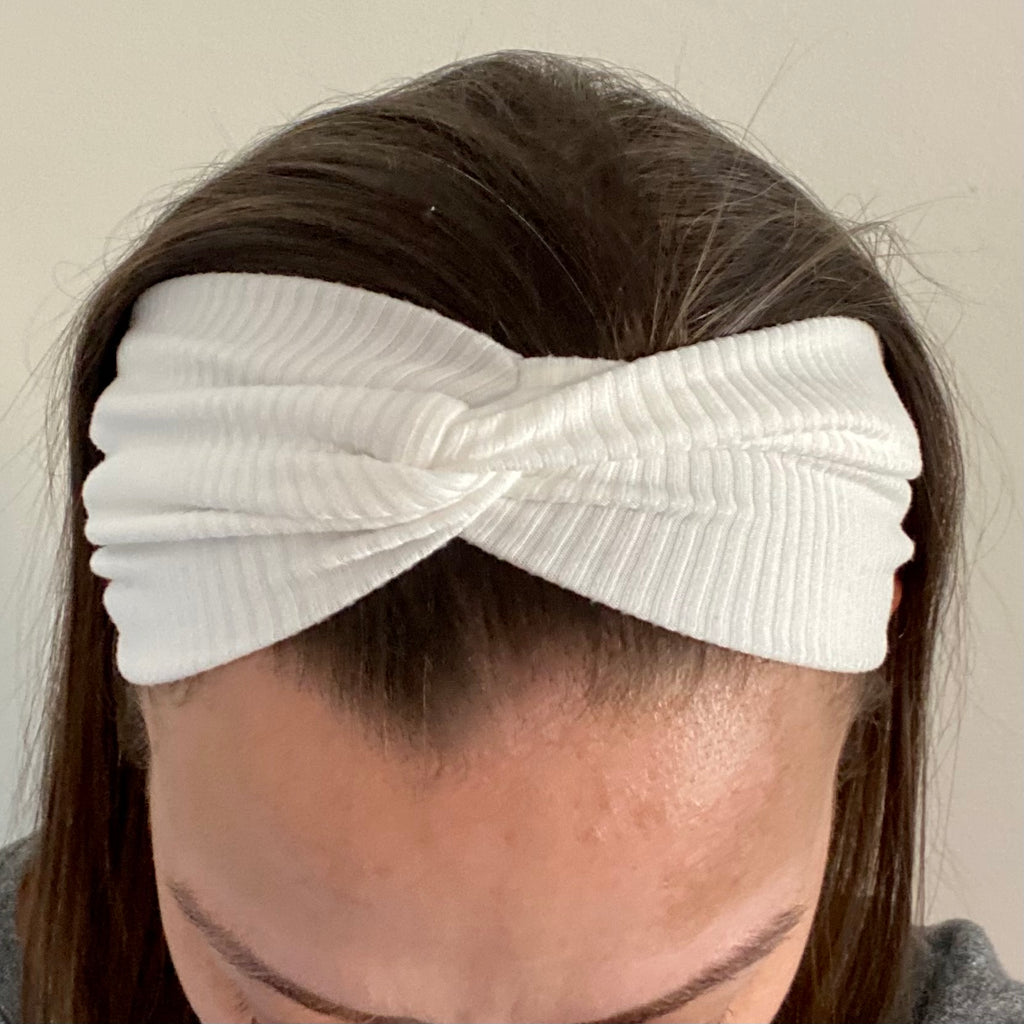 White Knotted Head Wrap