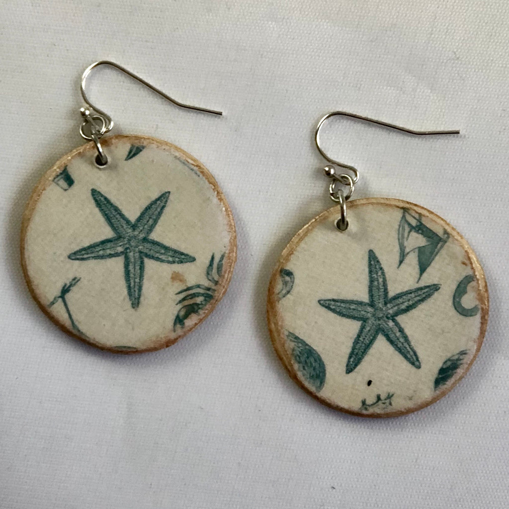 Starfish Wood Earrings
