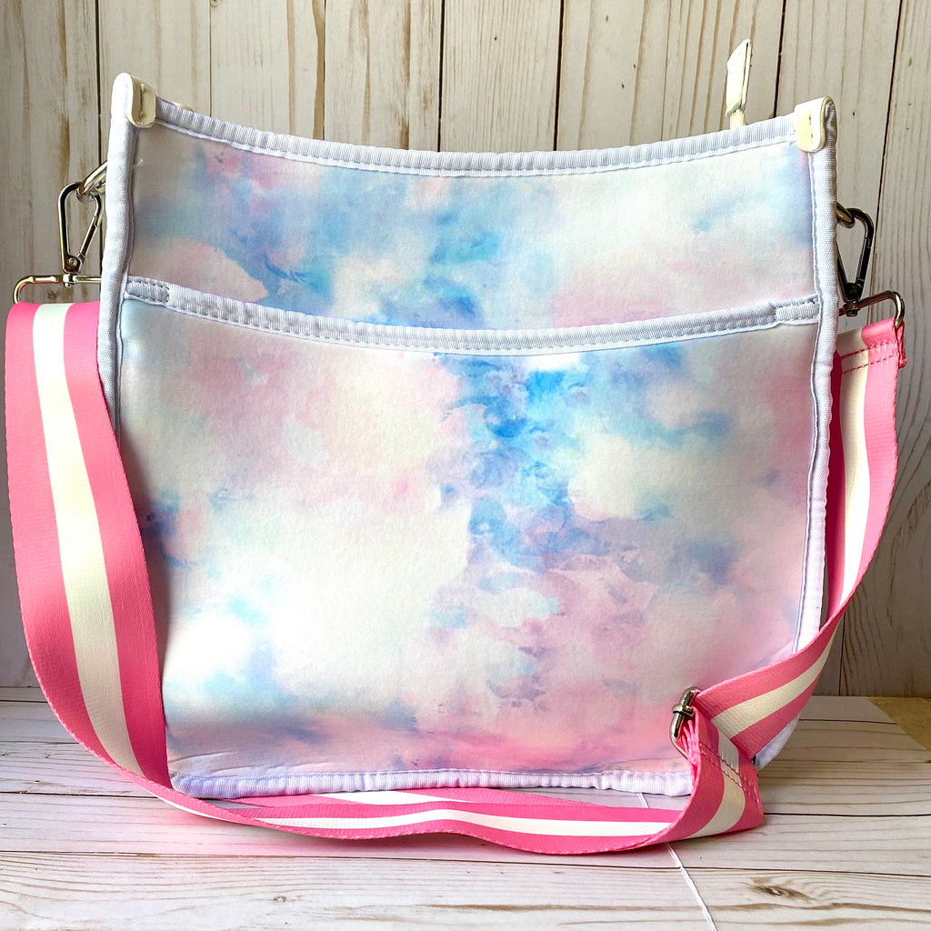 Watercolor Neoprene Messenger Purse