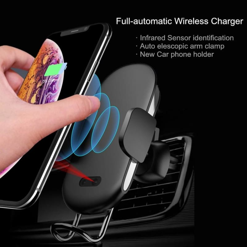 Car Wireless Charger for Apple iPhone XS Max XR X 8 Plus For Samsung Galaxy  Note 9 S9 S8 S7 Fast QI Car Charger