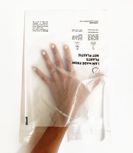 "Happy Plant biodegradable and certified home compostable Clear ""Poly""-less  Bag 