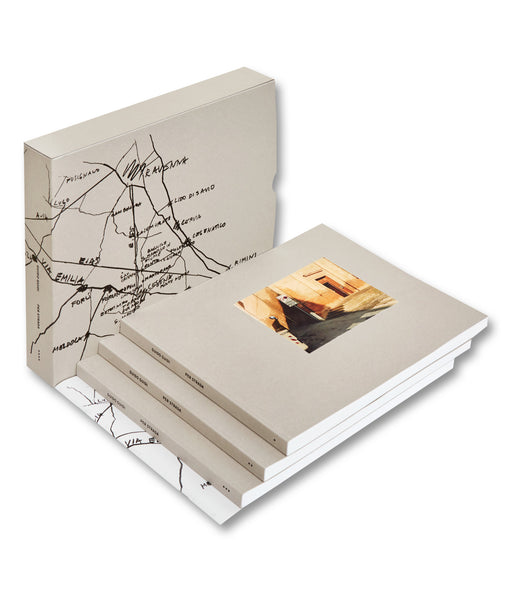 Three paperback volume and slipcase of photobook Per Strada by Guido Guidi, Mack photography book