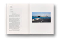 Spread of photobook Fish Story by Allan Sekula, Mack photography book