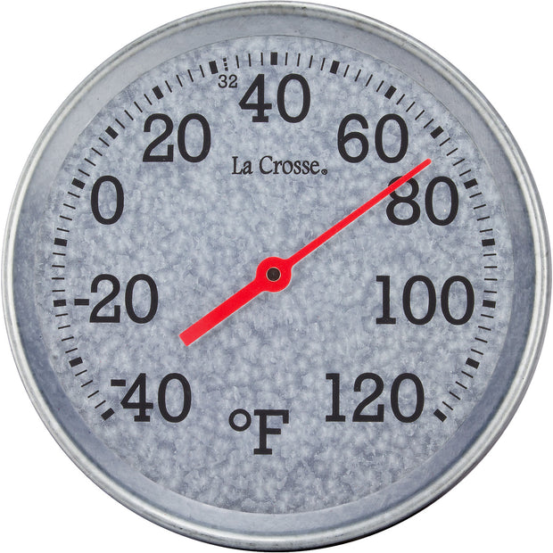 T85234 8 inch Galvanized Metal Thermometer