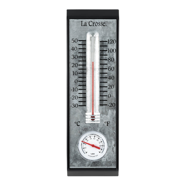 204-1526 10 in Bi-Metal Thermometer with Hygrometer