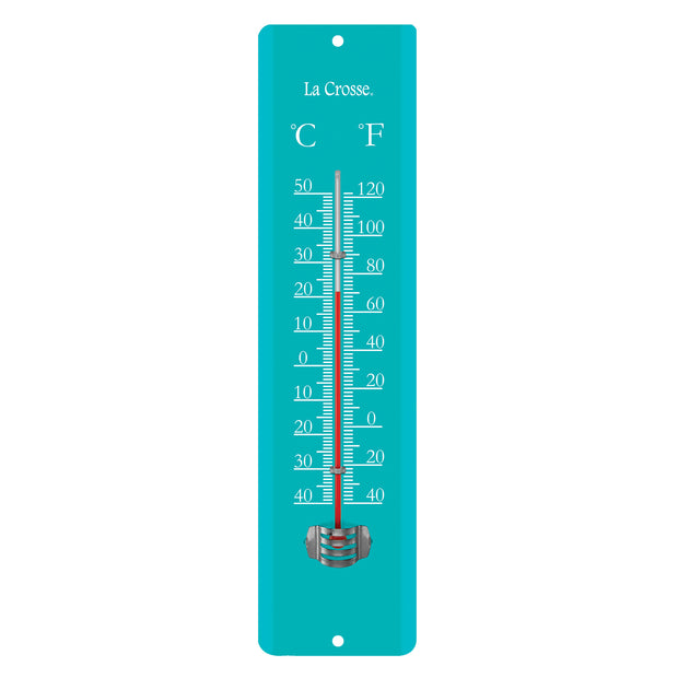 204-1530B Blue 11.5 inch Metal Thermometer