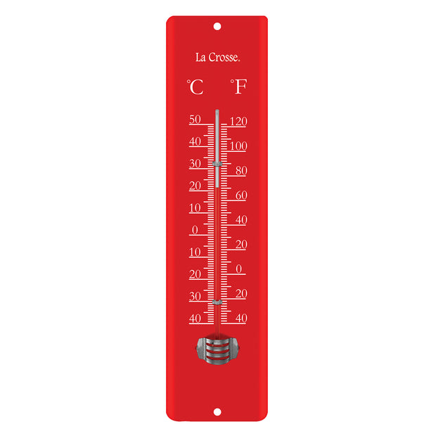T83684 Red 11.5 inch Metal Thermometer