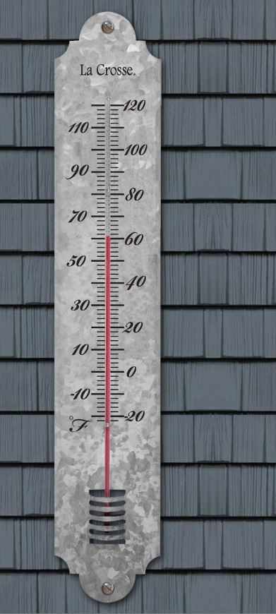 204-1550 19.50 inch Galvanized Metal Thermometer