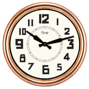 20821 12 inch Copper Wall Clock
