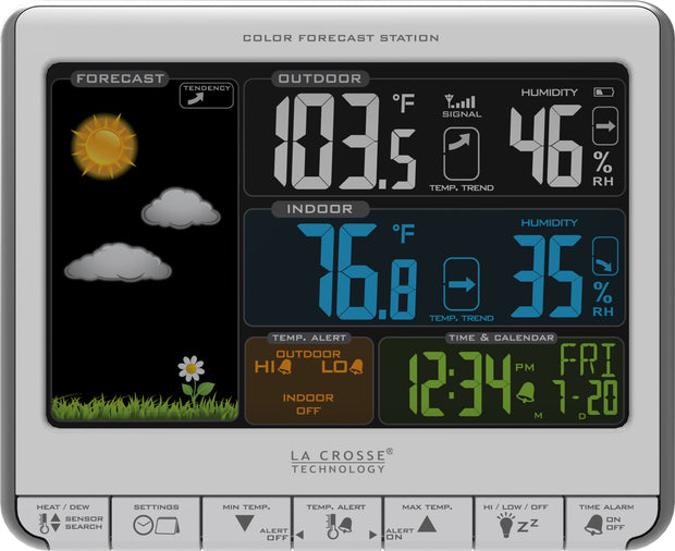 308-1412S Wireless Color Forecast Station