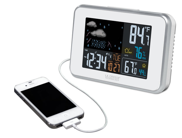 S98642 Wireless Color Weather Station with USB Charging