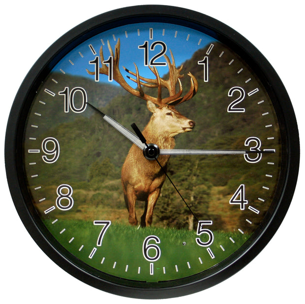 403-312D 12 inch Wall Clock with Glowing Hands - Elk