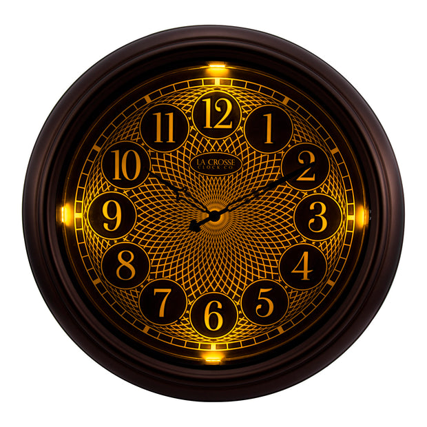 403-3246BR 18 inch Indoor/Outdoor Lighted Dial Clock