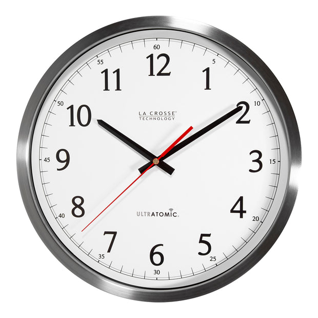 404-1235UA-SS 14 inch UltrAtomic - Analog Wall Clock