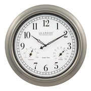 404-1946 18 in. Indoor/Outdoor Atomic Classic Wall Clock