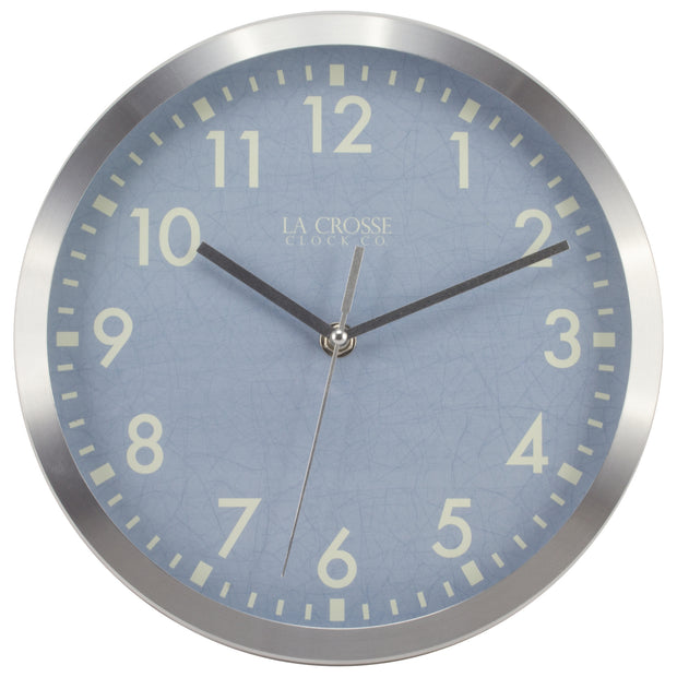 404-2625S 10 inch Metal Wall Clock