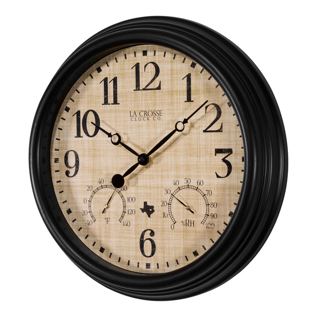 404-3015TX 15 inch Indoor/Outdoor Wall Clock