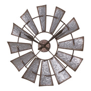 404-3956 22 in Decorative Analog Windmill Wall Clock
