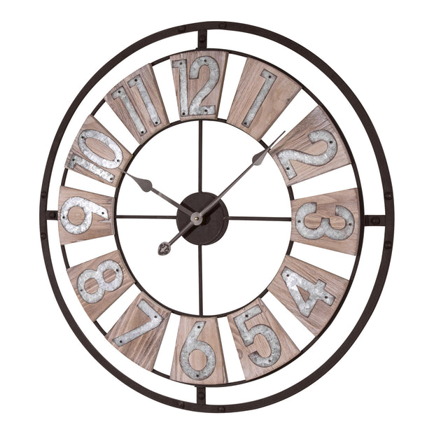 404-4070 27.5 in Decorative Analog Industrial Wall Clock