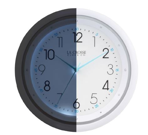 404-4525 10 in. Wall Clock with Night Vision