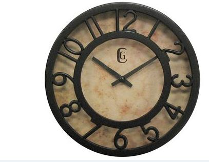 4432G 9.5 in Bronze Finish Raised Bezel Dial Wall Clock