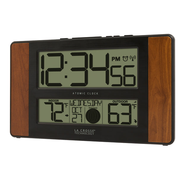 513-1417CH Atomic Digital Wall Clock