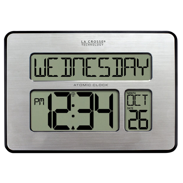 513-1419BLV4 Atomic Digital Wall Clock with Backlight