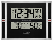 513-149V2 Atomic Digital Wall Clock with Indoor/Outdoor Temperature