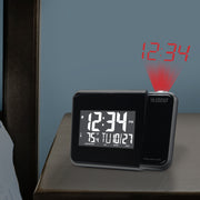 616-1412 Projection Alarm Clock with Indoor Temperature