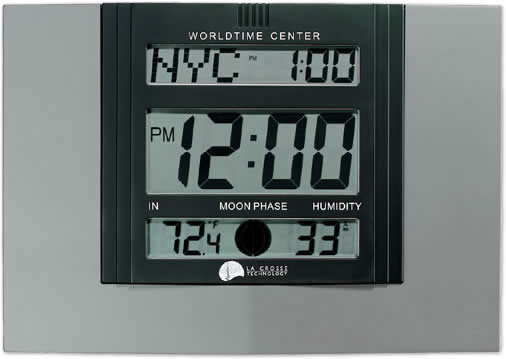 WS-7092 Atomic Wall Clock with Moon Phase and Indoor Temperature and Humidity
