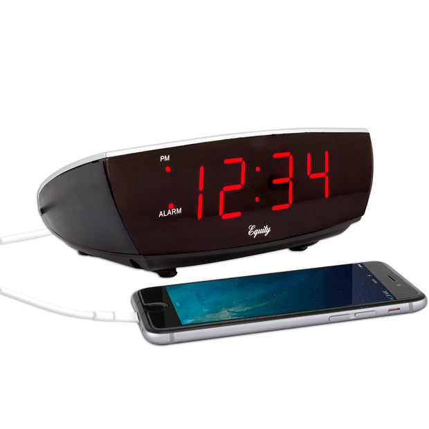 75900 0.9 inch Red LED Alarm Clock