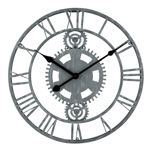 83186-BHG 14 inch Metal Gear Clock
