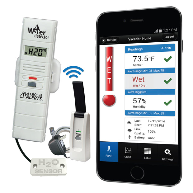 Remote Water Leak Detector with Temperature and Humidity and Early Warning Alerts
