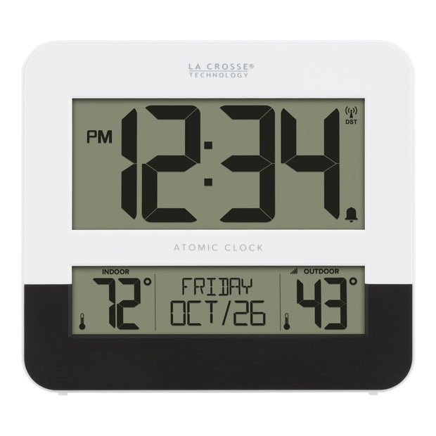 BBB82684 Atomic Clock with Indoor and Outdoor Temperature
