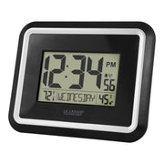 BBB84022 Digital Atomic Wall Clock with Indoor Temperature and Humidity