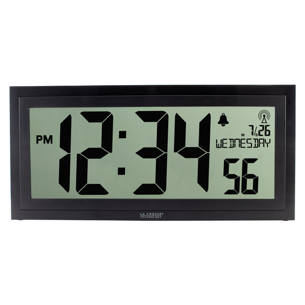 BBB87276 Texturized Atomic Digital Wall Clock