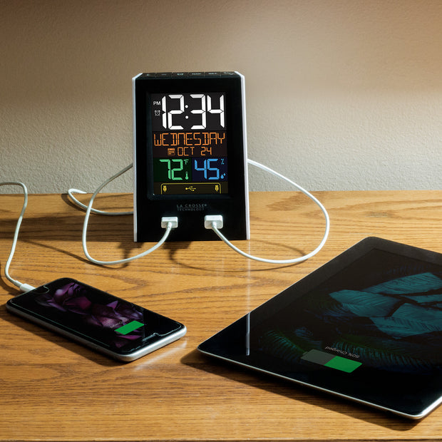 C86224 Alarm Clock Charging Station with Two USB Charging Ports
