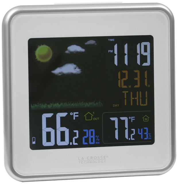 C86371 Wireless Atomic Color Weather Station with USB Charging